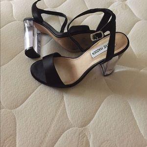ba76afb8d5f Steve Madden Shoes - Steve Madden black   clear heels