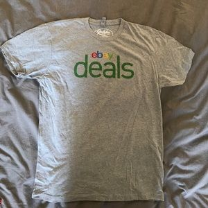 ebay deals logo light grey cotton shirt