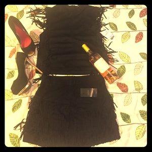 Zara fringed Skirt Set