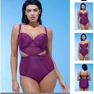 Plus size one piece swimsuit