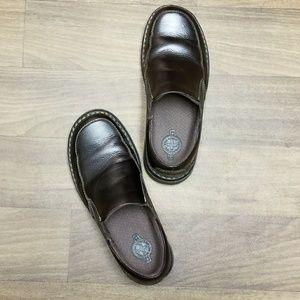 Dr Doc Martens 'Neil' slip-on brown leather men's