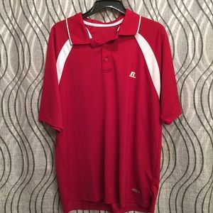 Russell athletic red collared golf shirt Large