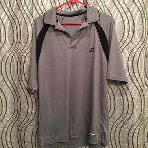 Russell athletic Gray collared golf shirt Large
