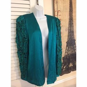 Jackets & Blazers - Embroidered sequin jacket