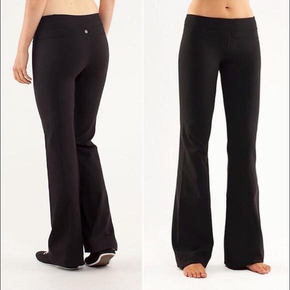 754ebc1ae3 lululemon athletica Pants - Lululemon Athletica Black Wide Leg Yoga Pants