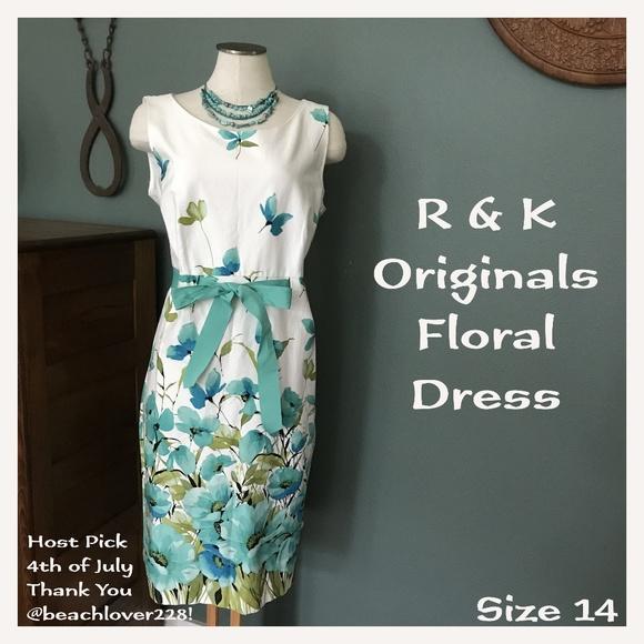 0af814062295a R & K Originals Dresses | R K Originals Floral Ribbon Dress | Poshmark