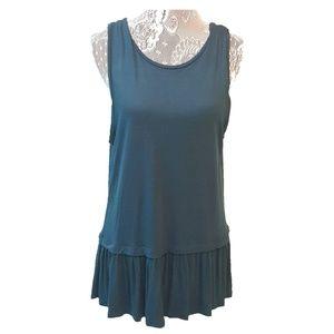 ANN TAYLOR LOFT sleeveless ruffle bottom top