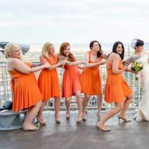 Von vonni convertible transformer orange dress