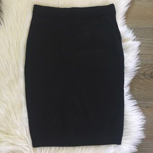 Knitz For Love And Lemons Black Knit Skirt