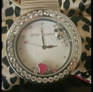 Betsey Johnson skull and spider watch