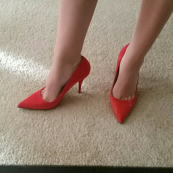 Bombshell Kate Spade Licorice Red Suede