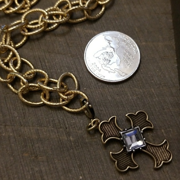 j bloom jewelry jbloom jbloom chunky necklace with gold cross from 3703