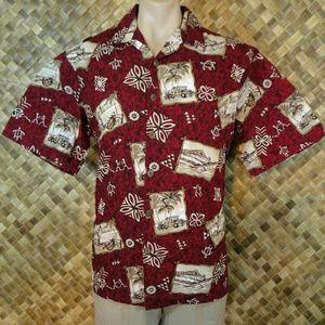 Hilo Hattie mens Hawaiian print shirt. Large
