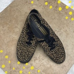 Cheetah print Keds with velvet laces