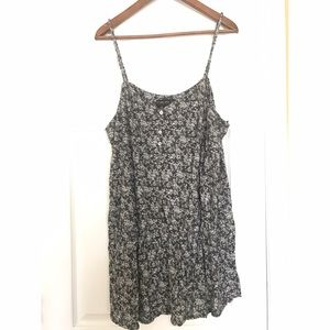 Long Floral Tank Top with Waist Band