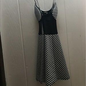 Deb Dresses - striped skater dress