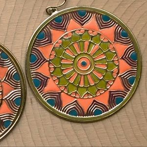 Jewelry - 💥SALE💥beautiful boho medallion earrings
