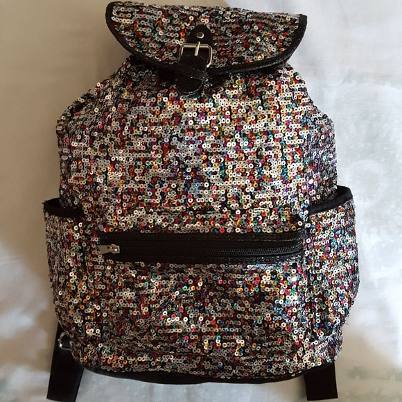 Justice Bags Sparkle Girls Backpack With 4 Pockets