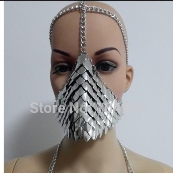 7360ea3755412 Chainmail mask kandi plur chain rave edc bikini. M_59582b0741b4e0f1a8022619