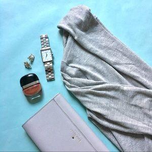 Gray Zara Open Front Cardigan