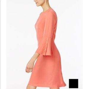 CK Bell sleeve Sheath Dress