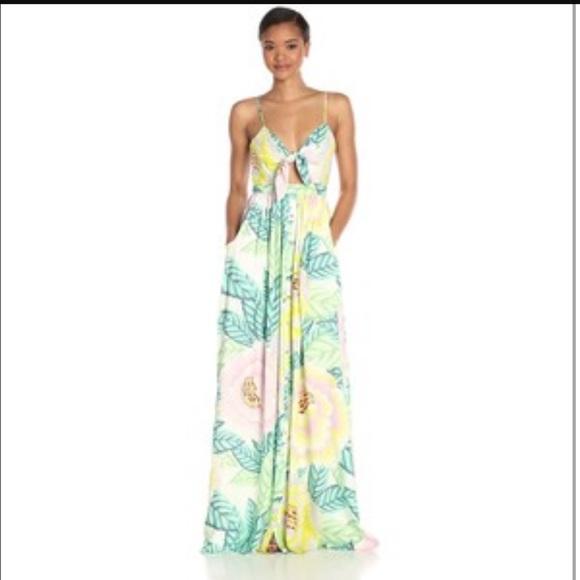 9d6dc4d17e Mara Hoffman Dresses | Iso Flora Stone Maxi Dress Tie Front | Poshmark