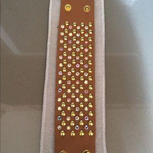 Jewelry - CAMEL RHINESTONE WRISTBAND