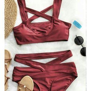 Other - Maroon strappy bikini