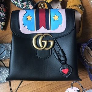 Handbags - Cute rainbow backpack real leather GG like new