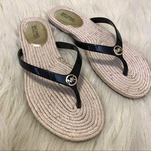 Micheal Kors 'hazel' espadrille flat thong sandal
