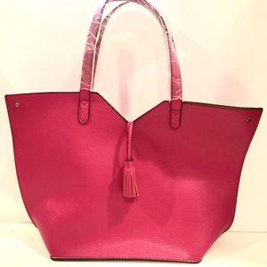 becd4536c Neiman Marcus Bags - Fuschia Pink Neiman Marcus Tote Bag with Tassel