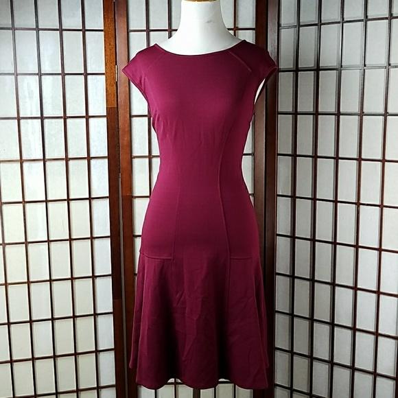 68 Off Ann Taylor Dresses Amp Skirts Maroon Burgundy
