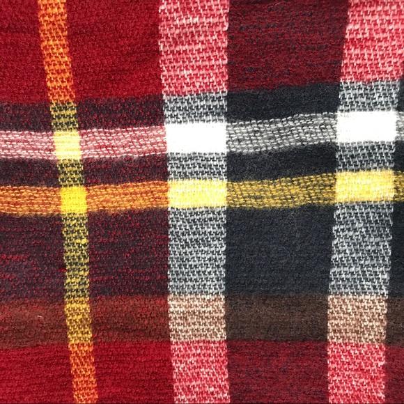 zara nwt zara red plaid tartan blanket scarf from emily 39 s closet on poshmark. Black Bedroom Furniture Sets. Home Design Ideas