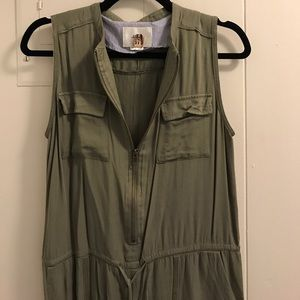 ec9f2dc8c0f6 Anthropologie Pants - Anthro Elevenses Olive Green Jumpsuit XS