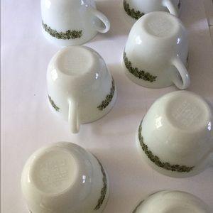 Set Of 7 Pyrex Crazy Daisy Tea Cups Flawless   Poshmark
