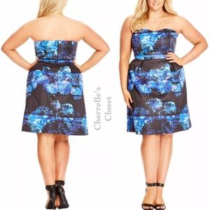 City Chic Strapless Sweetheart Dress Plus Size NWT
