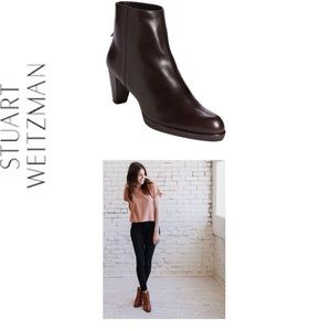 🆑Stuart Weitzman Brown Leather Ankle Boot