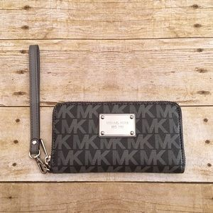 NWOT Michael Kors gray zipper wallet