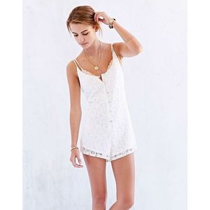 Urban Outfitters White Lace Romper