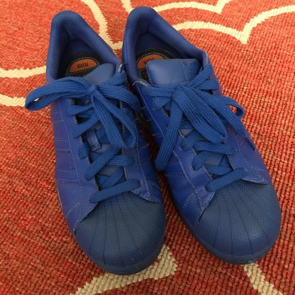 low priced dedce 4fb55 adidas Shoes - Adidas x Pharrell Williams blue adicolor superstar
