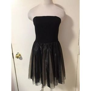 Little Black Tulle Dress Small