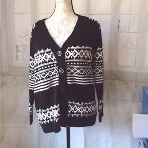 Forever 21 Black & White Medium Cardigan