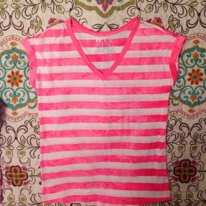 ❌gifted not available Hot Pink Striped top