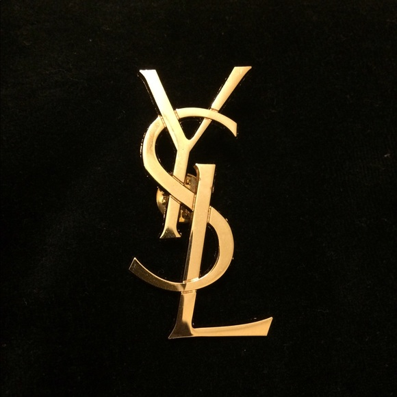 fc4c8c47df6 YSL logo inspired brooch gold pin. M_595867818f0fc40e850579d5