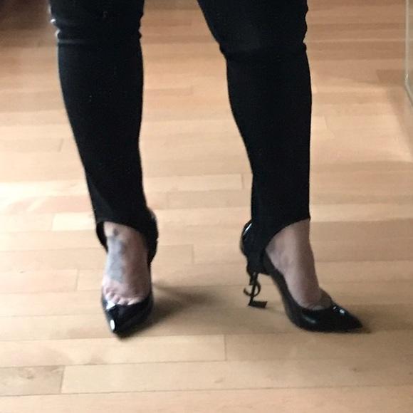 69fb411120 Saint Laurent Opium logo heels YSL logo heels