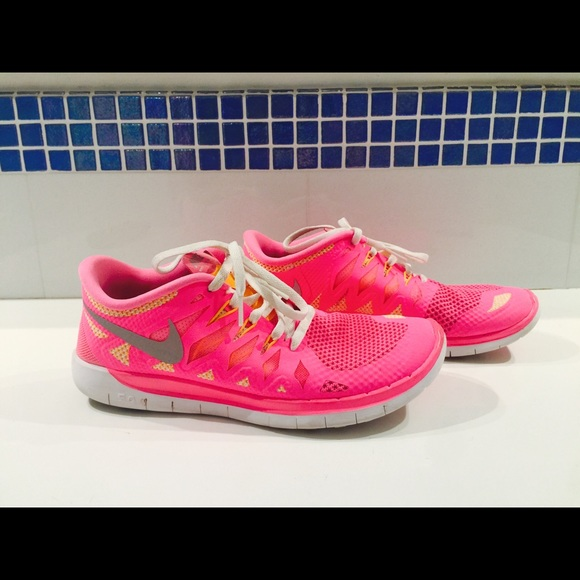 2a93f1efbae nike shoes white and orange neon Womens nike lunarglide 5 shield ...