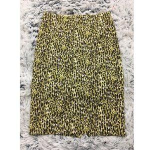 J.CREW Animal Print Back Slit Pencil Skirt-5602 A4