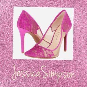 Jessica Simpson Hot Pink Heels 