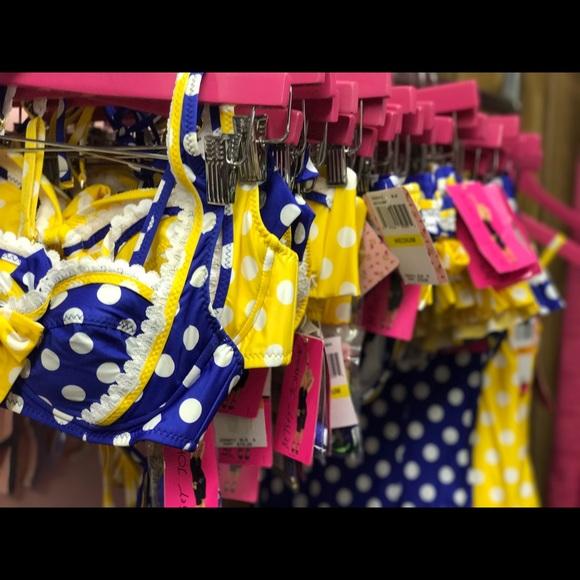 Betsey Johnson Yellow Bikini