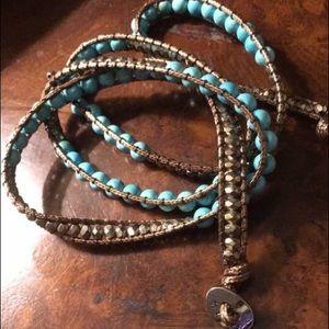 Jewelry - Turquoise Beaded Wrap Bracelet